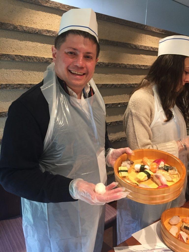 Atelier de sushi nigiri