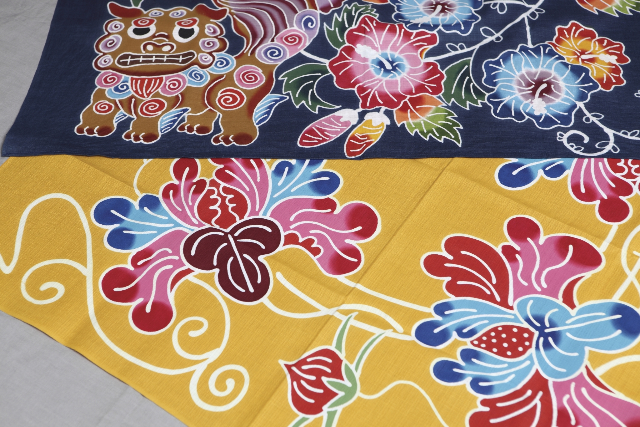 Le tissus « Bingata »coloré d'Okinawa