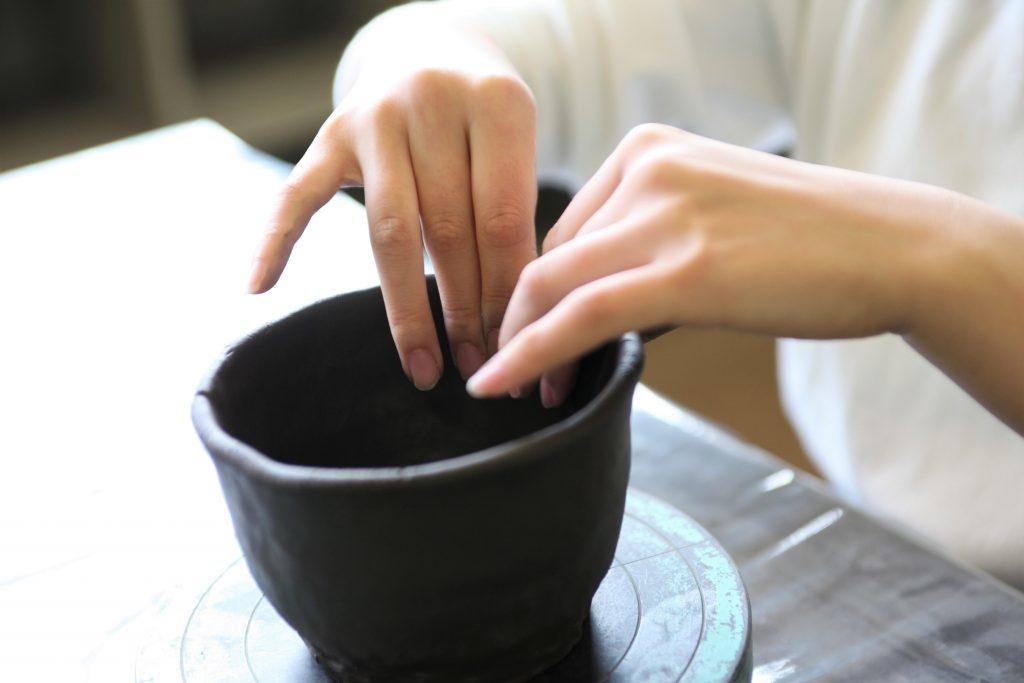 Atelier poterie au château d'Okayama