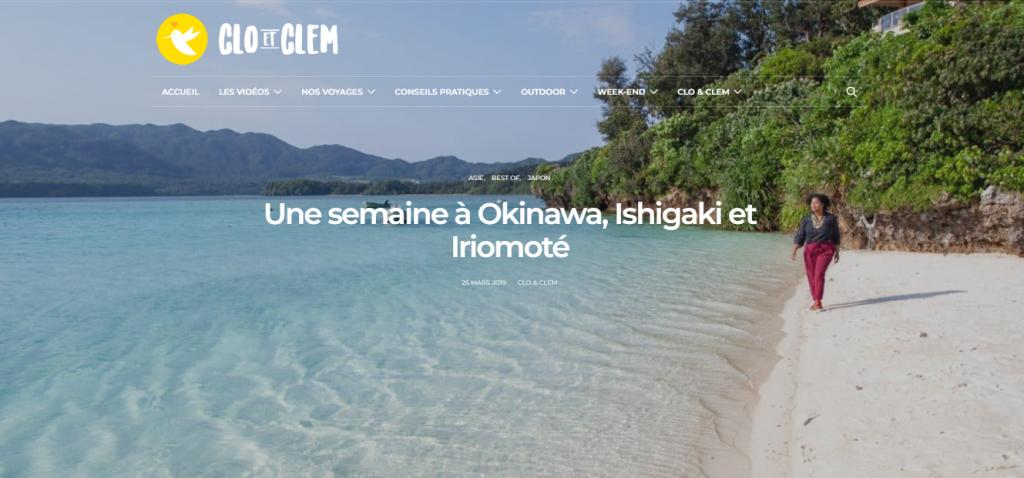 Clo et Clem à Okinawa