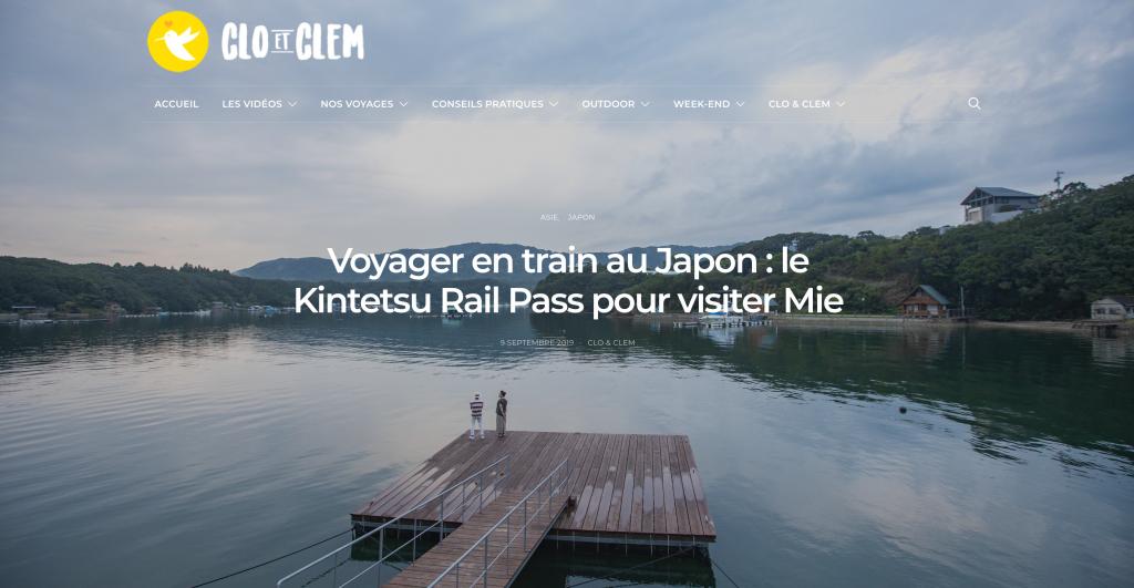 Clo et Clem à Mie avec le Kintetsu Rail Pass