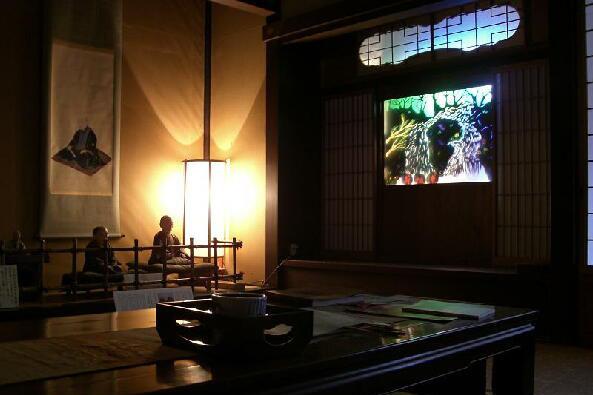 Le théâtre d'ombres à Hanabishi-an