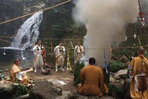 Cérémonie de prière pour les randonneurs d'Akame