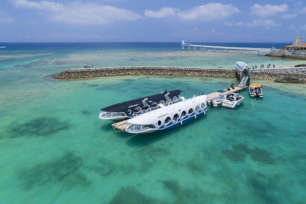 sous-marin récif coralien