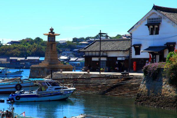 port bateaux fukuyama traditionnel historique tourisme japon hiroshima tomonouchi