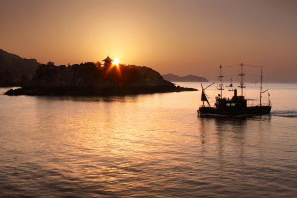 coucher de soleil fukuyama historique tourisme japon hiroshima tomonouchi