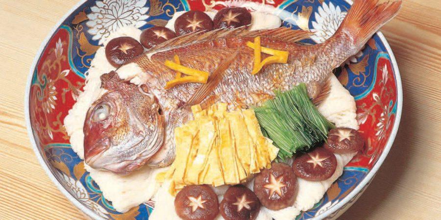 daurade dorade poisson nouilles somen champignons cuisine locale japon fukuyama hiroshima