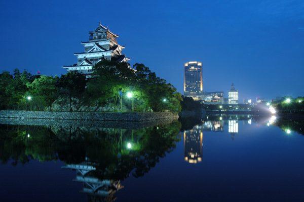 château Hiroshima visiter Japon Ninomaru bombe