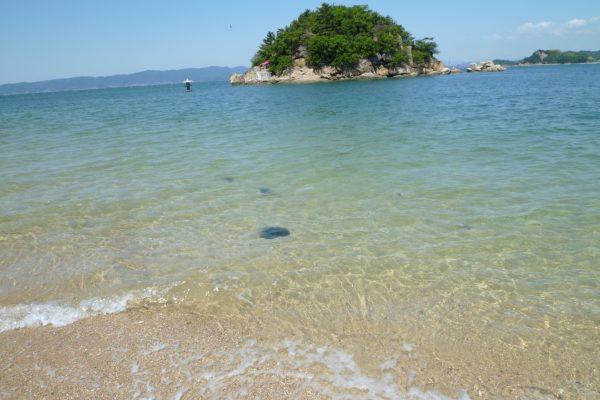 plage shiraishi kasaoka îles okayama Japon détente bain de mer kayak canoe promenade