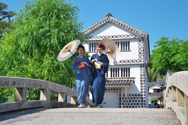 kurashiki okayama japon expérience kimono denim japon traditionnel promenade barques voyage aventure découverte japon
