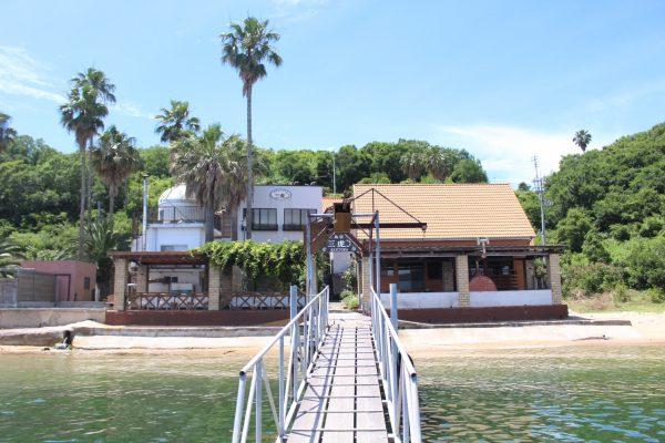 Shimayado Santora île Manabe Kasaoka Okayama Japon hébergement Japon insolite gîte mer nature bain de mer plage étoiles repas saint local authentique bateau