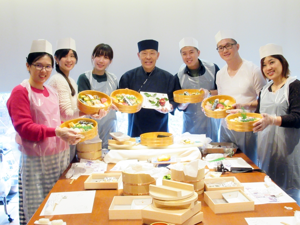 Atelier de sushi nigiri et