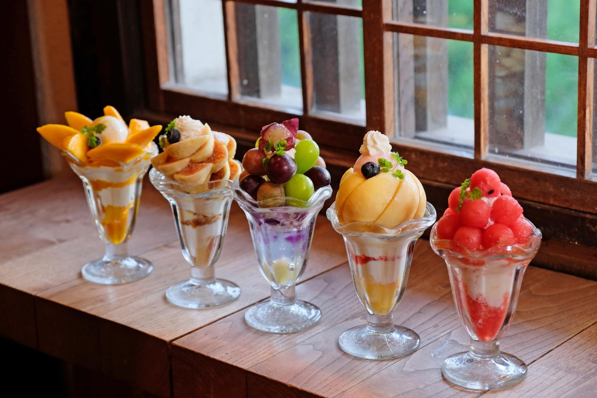 Les parfaits aux fruits d'Okayama