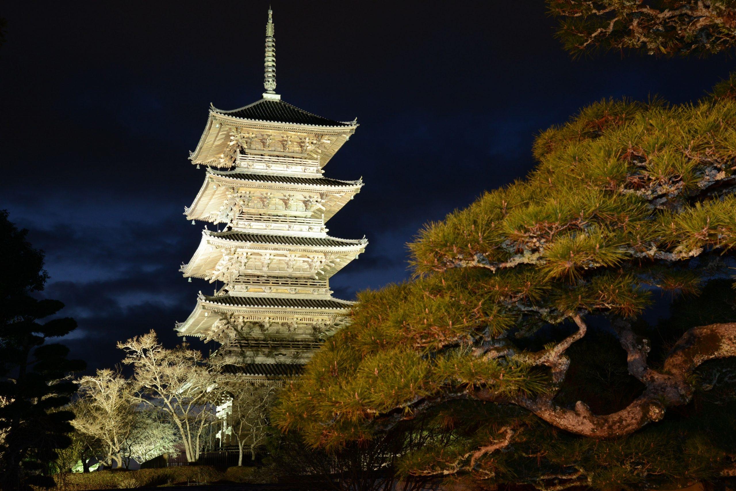 Le temple de Bitchū Kokubunji