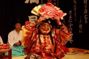 L'atelier de masques de Kagura Kobayashi à Yunotsu